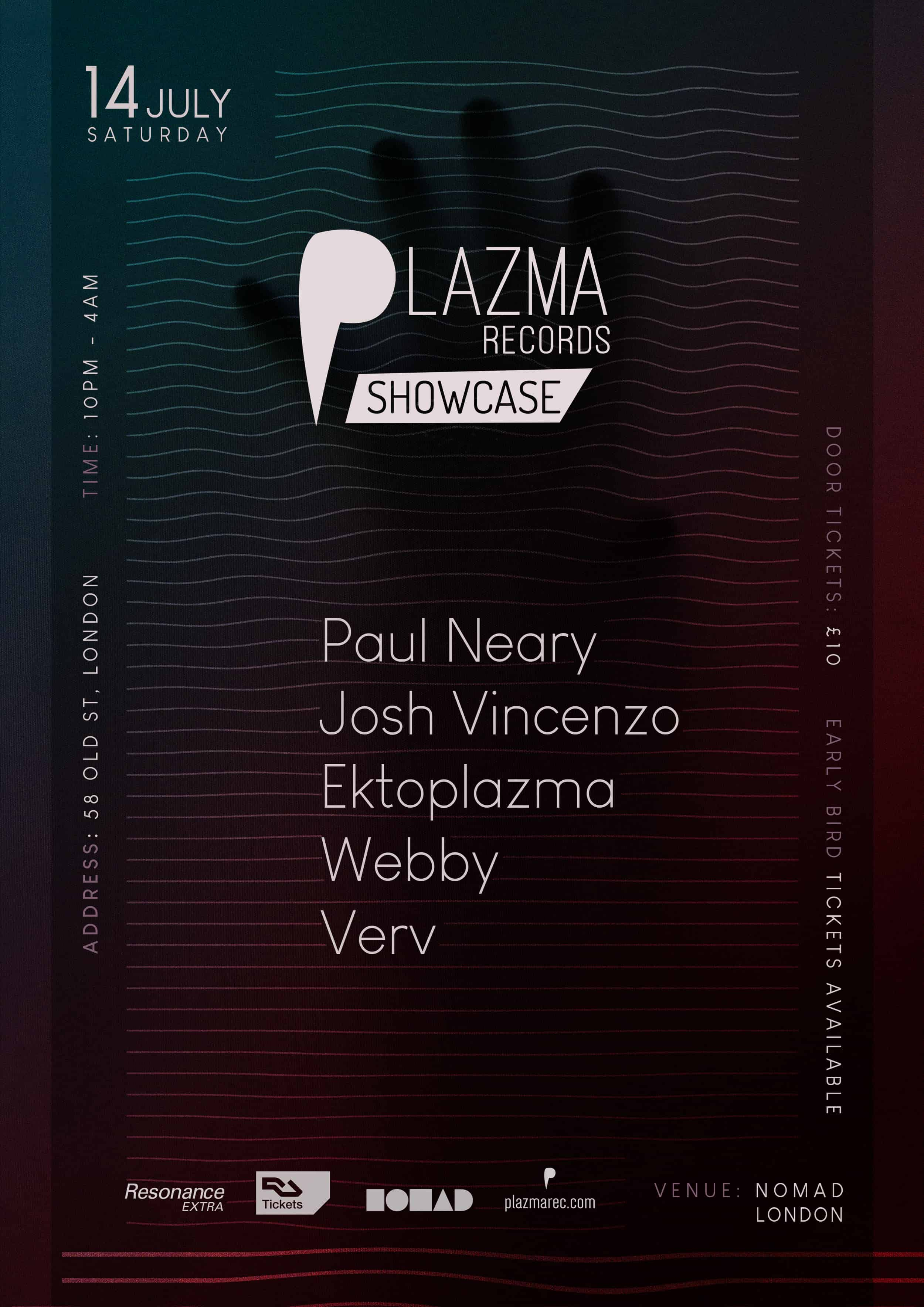 Plazma Records Showcase London | Techno and Minimal event at Nomad Club London